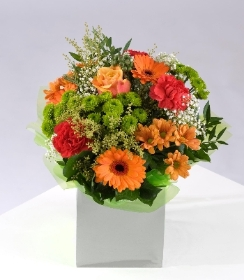Please Note that due to the seasonal availability of flowers it may be necessary to vary individual stems from those shown. Our skilled florists may substitute flowers for one similar in style, quality and value. Where our designs include a sundry item such as a vase or basket it may not always be possible to include the exact item as displayed. If such an occasion arises we will make every effort to replace the item with a suitable alternative.